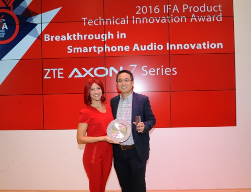 ZTE's Flagship AXON 7 Series Won Breakthrough in Smartphone Audio Innovation Award at IFA 2016