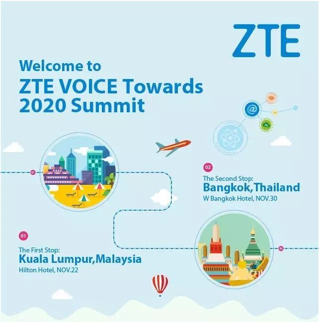 ZTE VOICE Towards 2020 Summit Starts in KL & Bangkok