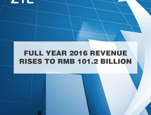 ZTE Full-Year 2016 Revenue Rises to RMB 101.2 Billion as Carrier Networks and Consumer Business Grow