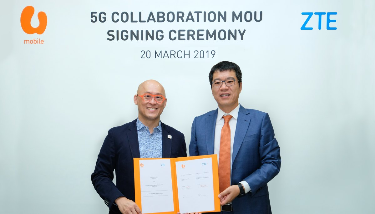 U MOBILE AND ZTE SIGN MOU TO CONDUCT 5G LIVE TESTS AS PART OF WIDER JOINT PROGRAM